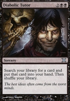 10th Edition Foil: Diabolic Tutor