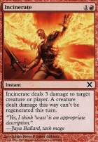 10th Edition: Incinerate
