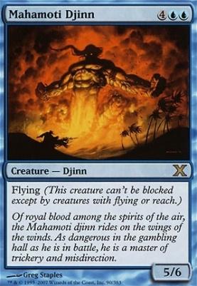 Mahamoti Djinn Revised HEAVILY PLD Blue Rare MAGIC THE GATHERING CARD ABUGames