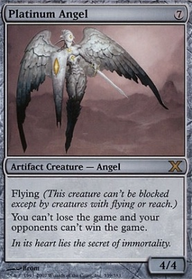 Platinum Angel Tenth Edition Angelo di Platino Magic The Gathering