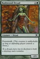 10th Edition Foil: Rushwood Dryad