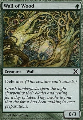 10th Edition: Wall of Wood
