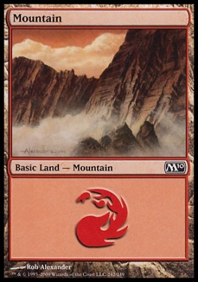 2010 Core Set: Mountain (242 A)