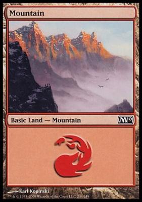 2010 Core Set: Mountain (244 C)