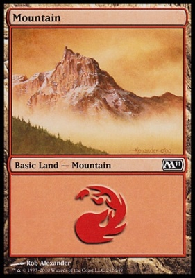 2011 Core Set: Mountain (242 A)