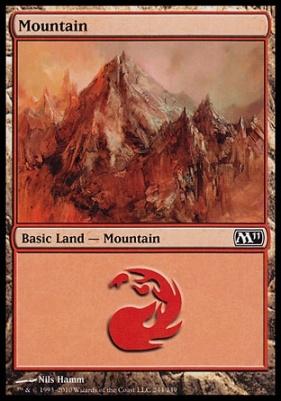 2011 Core Set: Mountain (244 C)