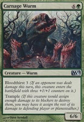 2012 Core Set Foil: Carnage Wurm