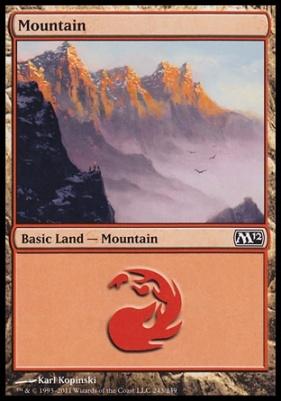 2012 Core Set: Mountain (243 B)