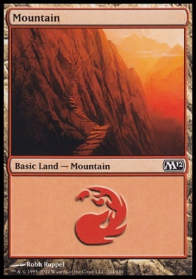 2012 Core Set: Mountain (244 C)