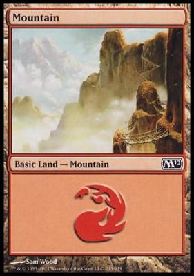 2012 Core Set: Mountain (245 D)