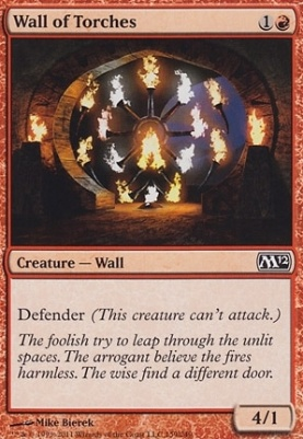 2012 Core Set Foil: Wall of Torches