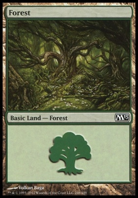 2013 Core Set: Forest (246 A)