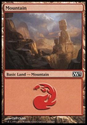 2013 Core Set: Mountain (242 A)