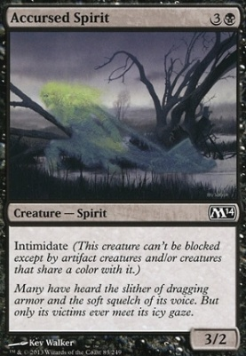 2014 Core Set: Accursed Spirit