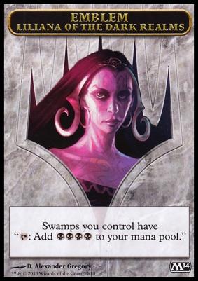 2014 Core Set: Emblem (Liliana of the Dark Realms)