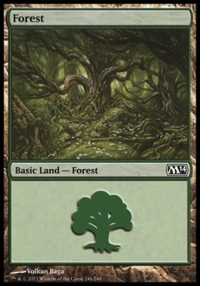 2014 Core Set: Forest (246 A)