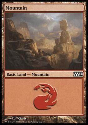 2014 Core Set: Mountain (242 A)