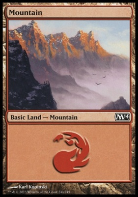 2014 Core Set: Mountain (244 C)