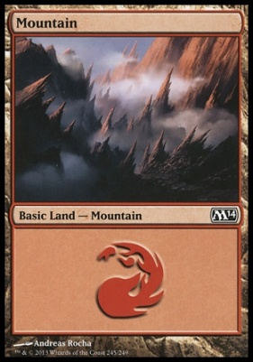 2014 Core Set: Mountain (245 D)