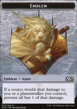 2015 Core Set: Emblem (Ajani Steadfast)