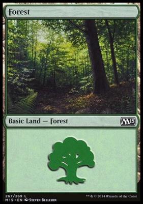 2015 Core Set: Forest (267 B)