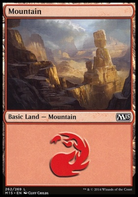 2015 Core Set: Mountain (262 A)