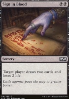 2015 Core Set: Sign in Blood