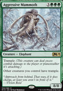 Core Set 2019: Aggressive Mammoth (Planeswalker Deck)