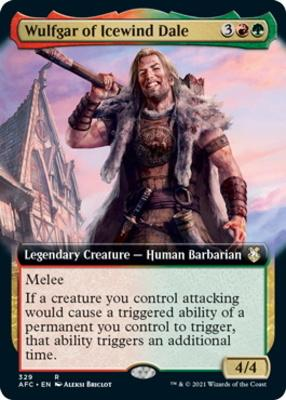 Adventures in the Forgotten Realms Commander Decks Variants: Wulfgar of Icewind Dale (Extended Art)