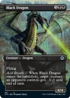 Adventures in the Forgotten Realms Variants: Black Dragon (Borderless)