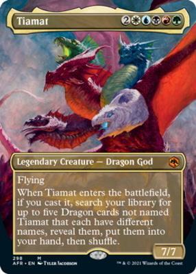 Adventures in the Forgotten Realms Variants: Tiamat (Borderless)