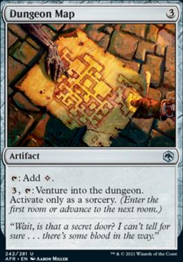 Adventures in the Forgotten Realms Foil: Dungeon Map