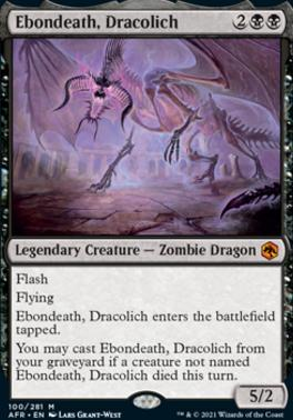 Adventures in the Forgotten Realms Foil: Ebondeath, Dracolich