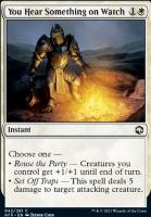Adventures in the Forgotten Realms Foil: You Hear Something on Watch