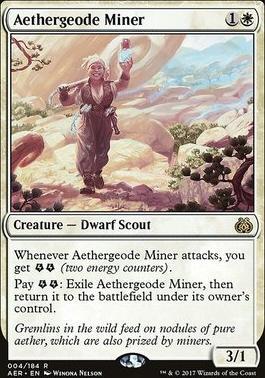Aether Revolt Foil: Aethergeode Miner