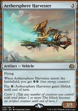 Aether Revolt Foil: Aethersphere Harvester