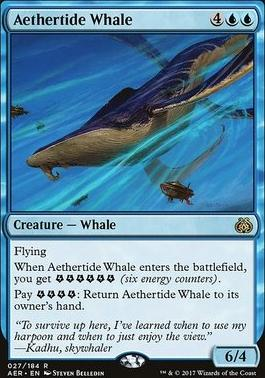 Aether Revolt Foil: Aethertide Whale