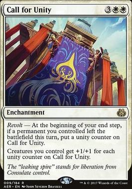 Aether Revolt Foil: Call for Unity