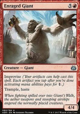 Aether Revolt Foil: Enraged Giant