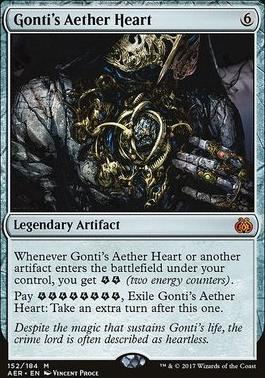 Aether Revolt Foil: Gonti's Aether Heart