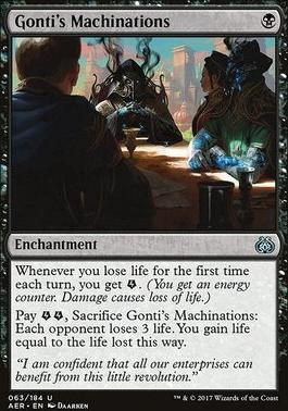 Aether Revolt Foil: Gonti's Machinations