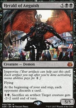 Aether Revolt Foil: Herald of Anguish