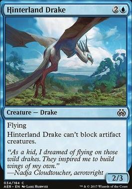 Aether Revolt Foil: Hinterland Drake