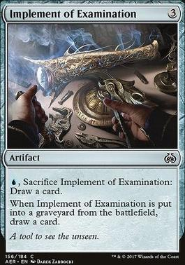 Aether Revolt Foil: Implement of Examination
