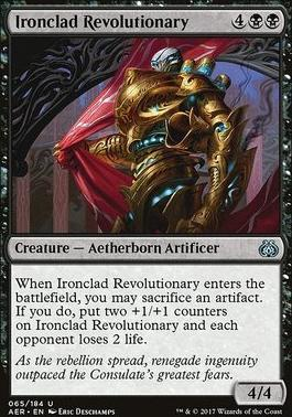 Aether Revolt Foil: Ironclad Revolutionary