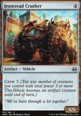 Aether Revolt Foil: Irontread Crusher