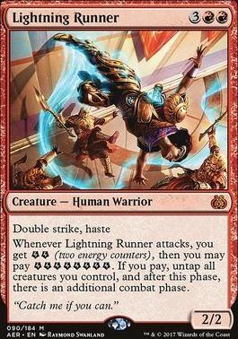 Aether Revolt Foil: Lightning Runner