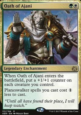 Aether Revolt Foil: Oath of Ajani