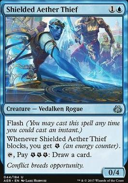 Aether Revolt Foil: Shielded Aether Thief