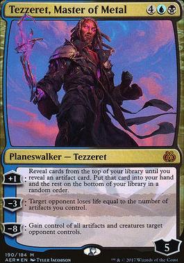 Aether Revolt: Tezzeret, Master of Metal (Foil - Planeswalker Deck)